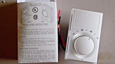 Marley M601w Line Voltage Thermostat- New