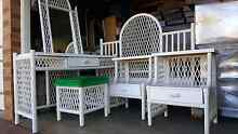 White cane bedroom set Glenmore Park Penrith Area Preview