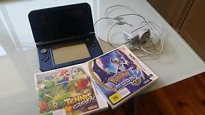 """""""New"""" Nintendo 3DS XL Navy Blue + Pokemon Moon and Mario Tennis Cheltenham Hornsby Area Preview"""