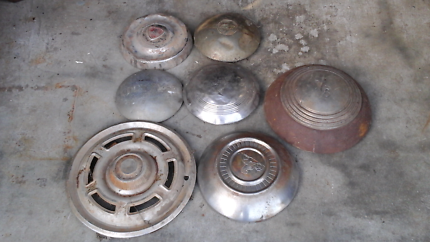 Antique hubcaps