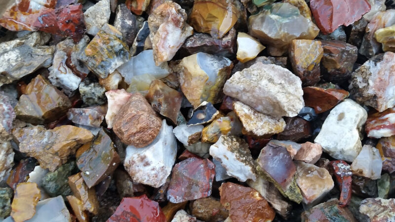 26+ POUNDS of TUMBLING ROUGH Includes: Mixed Agate