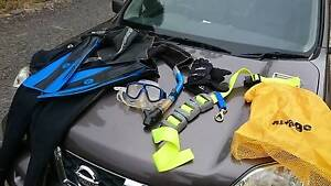 Dive set with weight belt Kyneton Macedon Ranges Preview