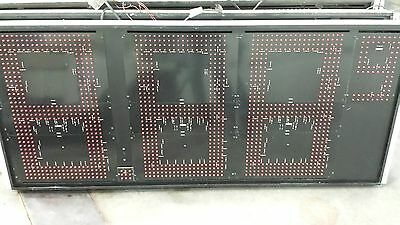 Electronic Led Red 9ft X 24in Price Sign Panels W Controller - Set Of 4