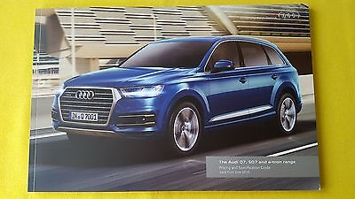 Audi Q7 SQ7 e-tron SE S Line 4.0 TDI sales brochure catalogue June 2016 MINT