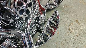 CHROME BILLET DEEP CUT FLOORBOARDS  80-16 Harley Bagger & FL Softail, FLT,FLH,