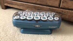 Titanium hair roller set. With clips