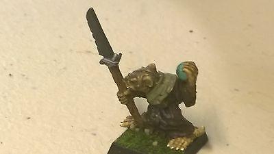 GW Warhammer Skaven Grey Seer Rogue Trader era OOP (1) metal Painted + Orb