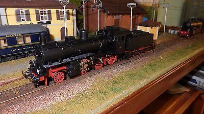 FLEISCHMANN 413707 Locomotiva a vapore 626 002 Nera telaio rosso vagone, FS