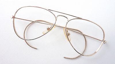 Kinder Sportbrille Vintagegestell Jungen gold Metall Rahmen Pilotform Gr. K