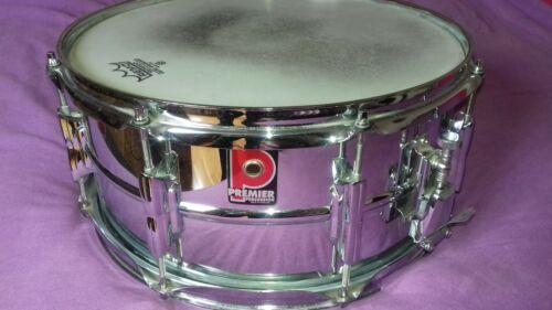 Vintage Premier 14 x 6 1/2 steel snare drum 90s Beverley/6000 lugs! exc UK MADE