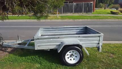 6 x 4 Galvanized Steel Box Trailer in great condition