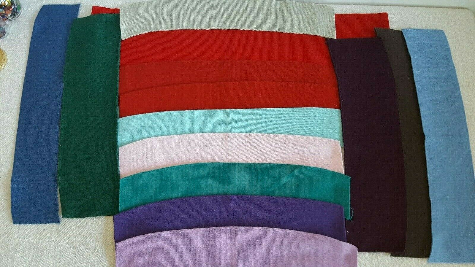 Vintage 1990s Knitted Collar Sleeve Trim For Sewing Shirts Sweaters And More - $14.99