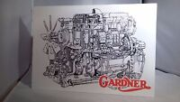 Gardner Engine Display Board. Rally Sign. Workshop, Garage. Classic Commercial - unbranded - ebay.co.uk