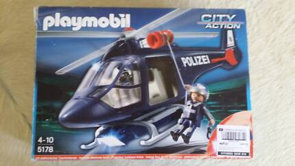 Playmobil 5183 Police Helicopter with LED Spotlight