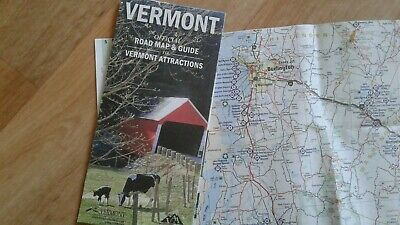 Landkarte, Reisekarte USA Bundesstaat Vermont (Usa Reise-karte)