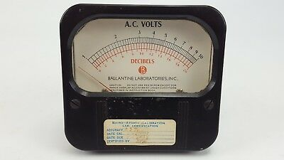 Vintage Weston 861 Decibels Ac Volts 1-10 0-20 Ballantine Panel Mount Meter 3