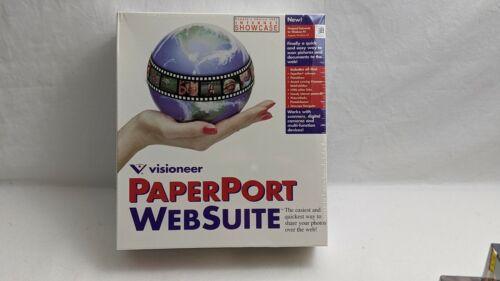 Visioneer Paperport Websuite Software in box vintage 1997