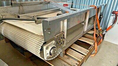 Food Safe Conveyor Belt - Stainless Steel - Plastic Chain Drive 3ph 56 L X 24