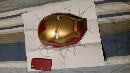 ironman wall lamp & iphone case