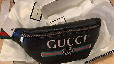 GUCCI Print Leather Logo Beltbag