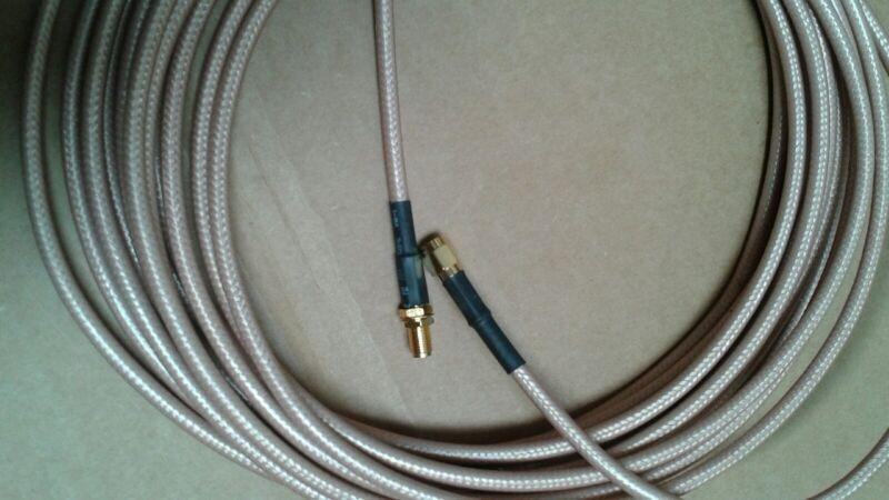 US MADE  SMA plug  TO  SMA jack  MIL- RG-400 coax cable  25 FT   50 ohm