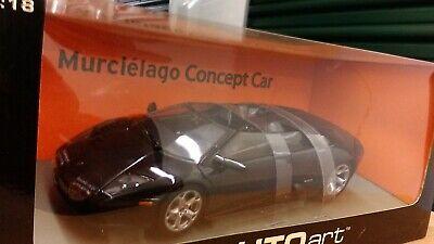 New 1:18 scale model by AutoArt Lamborghini Murcielago Concept Car in Black.