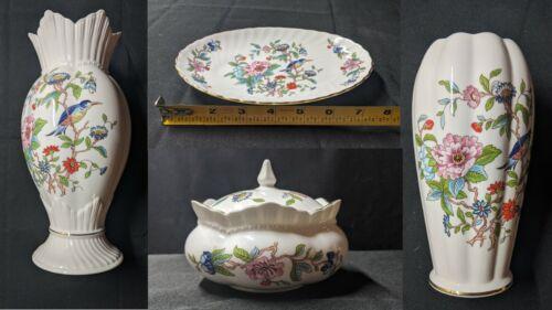 Vase Dish Bowl Aynsley Pembroke Fine Bone China Made n England Flower Bird Style