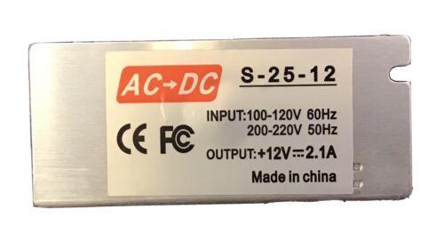 AC To DC Converter 100-120VAC 200-220 VAC Input - 12VDC 2.1A Ouput - $5.00