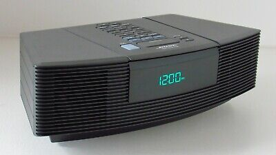 Bose Black Wave Radio CD Player Stereo Alarm Clock Free Ship AWRC1G Aux Input