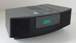 Bose Black Wave Radio CD Player Stereo Alarm Clock Free Ship AWRC1G Aux Input
