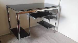 Black glass and chrome desk Morwell Latrobe Valley Preview