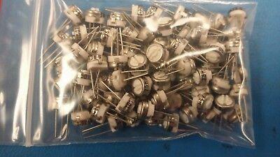 5 Pcs 75h-501 Vishay Spectrol Trimmer Resistor 14inrnd 500 Ohm 10 0.5watts