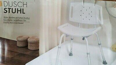 Badestuhl 100 kg Weiß Duschhocker Duschhilfe Badhocker