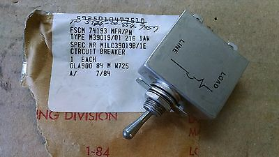1 Ea Eaton 1 Amp Circuit Breaker Used On Various Aircraft Pn M3901901-216