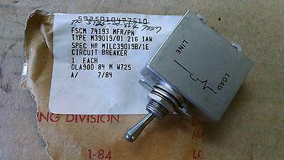1 Ea Eaton 1 Amp Circuit Breaker Used On Various Aircraft Pn M3901901-216