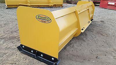Snow Pusher Box Blade Plow Skid Steer Backhoe Bobcat 10 Ft Best Value Guaranteed