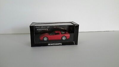 Minichamps 1/43 Chevrolet Chevy Corvette C5 1997 Red DIECAST METAL  for sale  Naples