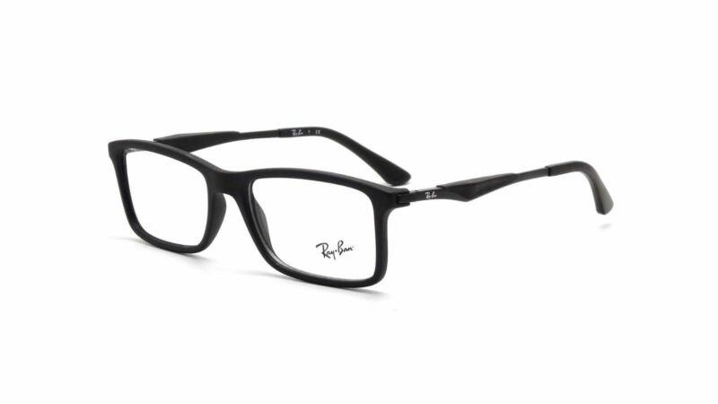 Ray Ban Matte Black Eyeglasses RX7023 2077 55mm Optical Frame
