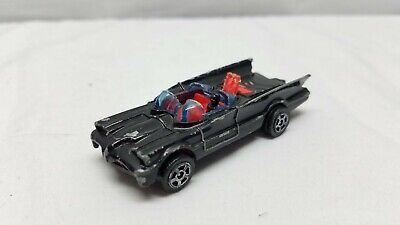 Vintage Batmobile Toy Diecast Corgi Juniors Batman 1976 DC Comics Car Black Red