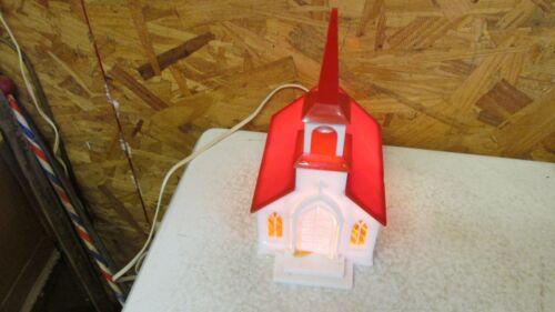 Old Illuminated Plastic Church- OB