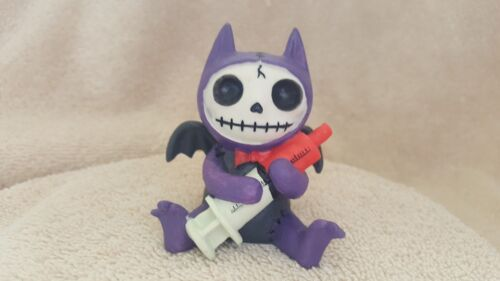 FURRYBONES Flappy the Bat Figurine Skull in Costume Collect New Free Shipping
