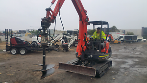 Excavators With Auger post hole diggers Landsdale Wanneroo Area Preview