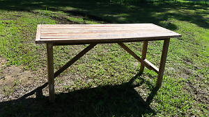 Solid handmade Garden dining table Rossmore Liverpool Area Preview