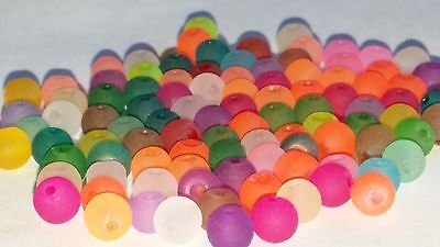 New 4MM Mixed Transparent Frosted Glass Beads Round Spacer Loose Beads 100pc.