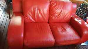 red sofas 3 and 2 seats Fremantle Fremantle Area Preview