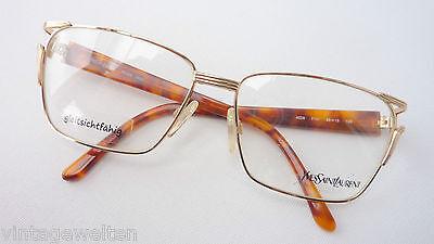 Yves St. Laurent Brille Luxusfassung Damenbrille Metallgestell gold Grösse M