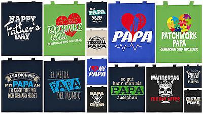 Baumwolltasche Vater Geburtstag Geschenktasche Tasche Papa Patchwork Vatertag