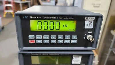 Newport Optical Power Meter 1830-c With Calibration Module