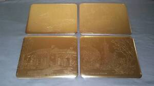 Vintage Gold Coloured Embossed Placemats Golden Grove Tea Tree Gully Area Preview