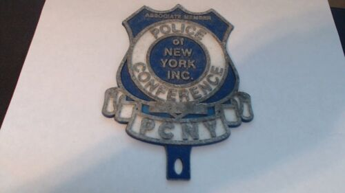 POLICE CONFERENCE OF NEW YORK SOLID METAL CAR PLACARD